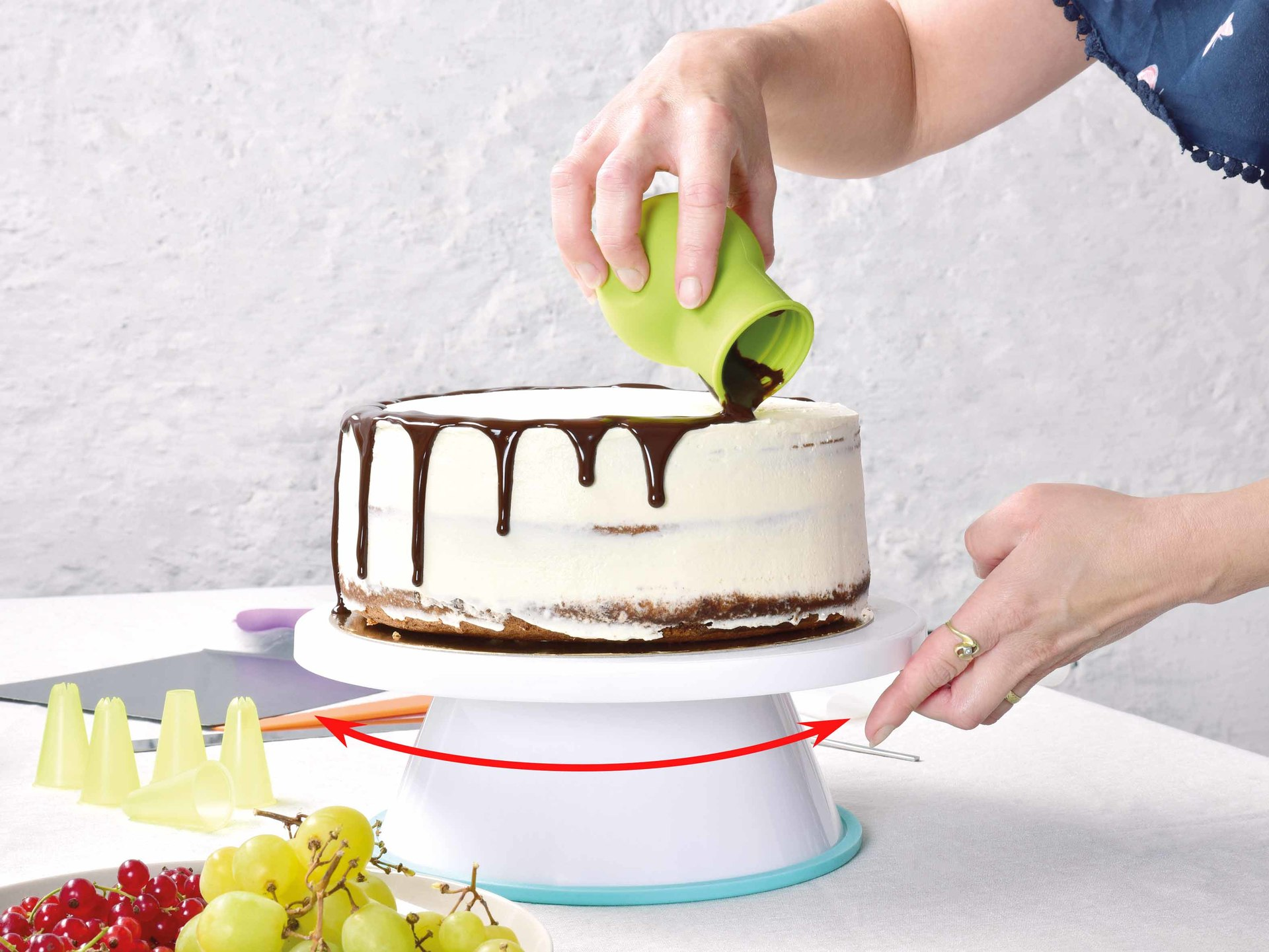 Velký otočný stojan na zdobení dortů DORTOKOLOTOČ