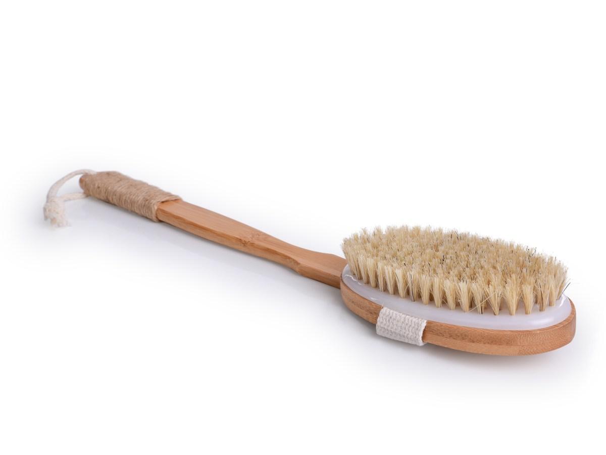 KARTÁČ na mytí s odnímatelnou rukojetí z bambusu GoEco®
