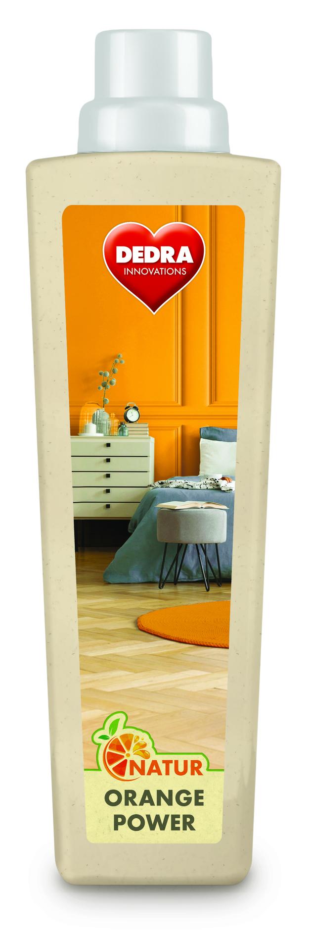 Mycí přostředek na podlahu NATUR ORANGE POWER s pomerančovým olejem na dřevěné podlahy, parkety a hladké povrchy