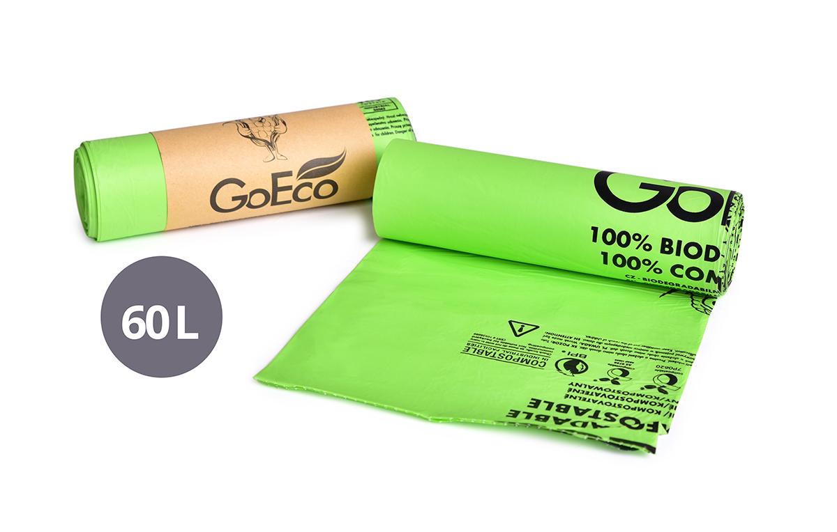 10 ks EKOSÁČEK NA ODPADKY, z kukuřice, 100% kompostovatelný GoEco®