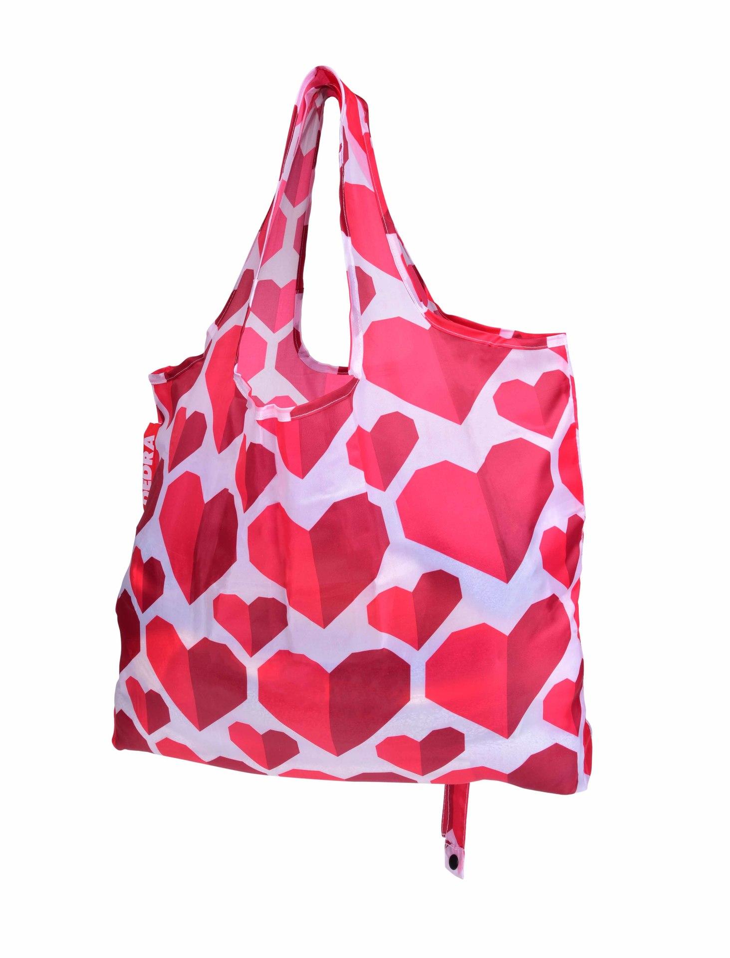 Nákupní skládací taška k opakovanému použití, SRDCE