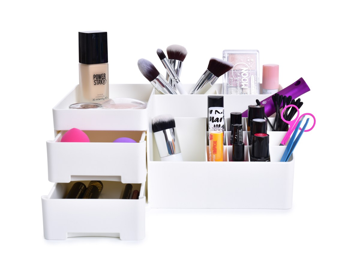 Kosmetický organizér BEAUTY WHITE z odolného plastu