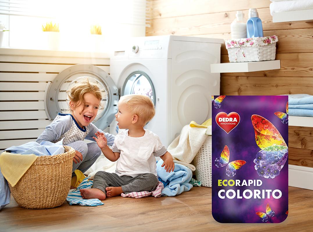 EKO PRÁŠEK na barevné prádlo ECORAPID COLORITO 60 praní