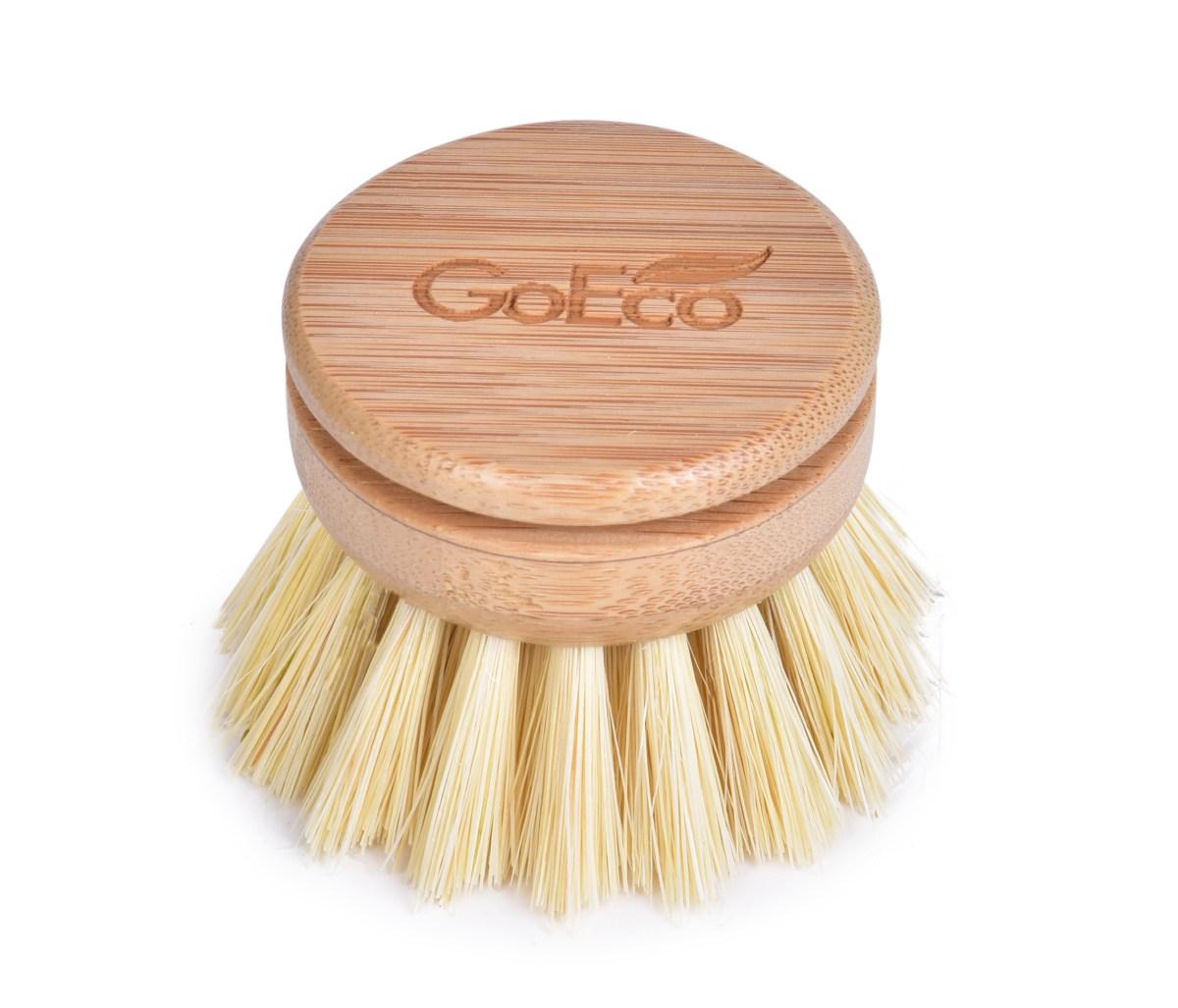 Náhradná hlavica / okrúhla kefa z bambusu so štetinami zo sisalu GoEco®