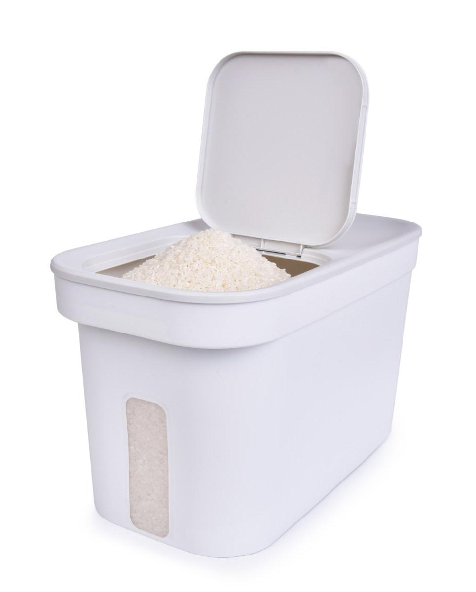 10 litrový BOX  na sypké potraviny, se samospádem a ochranou proti hmyzu,