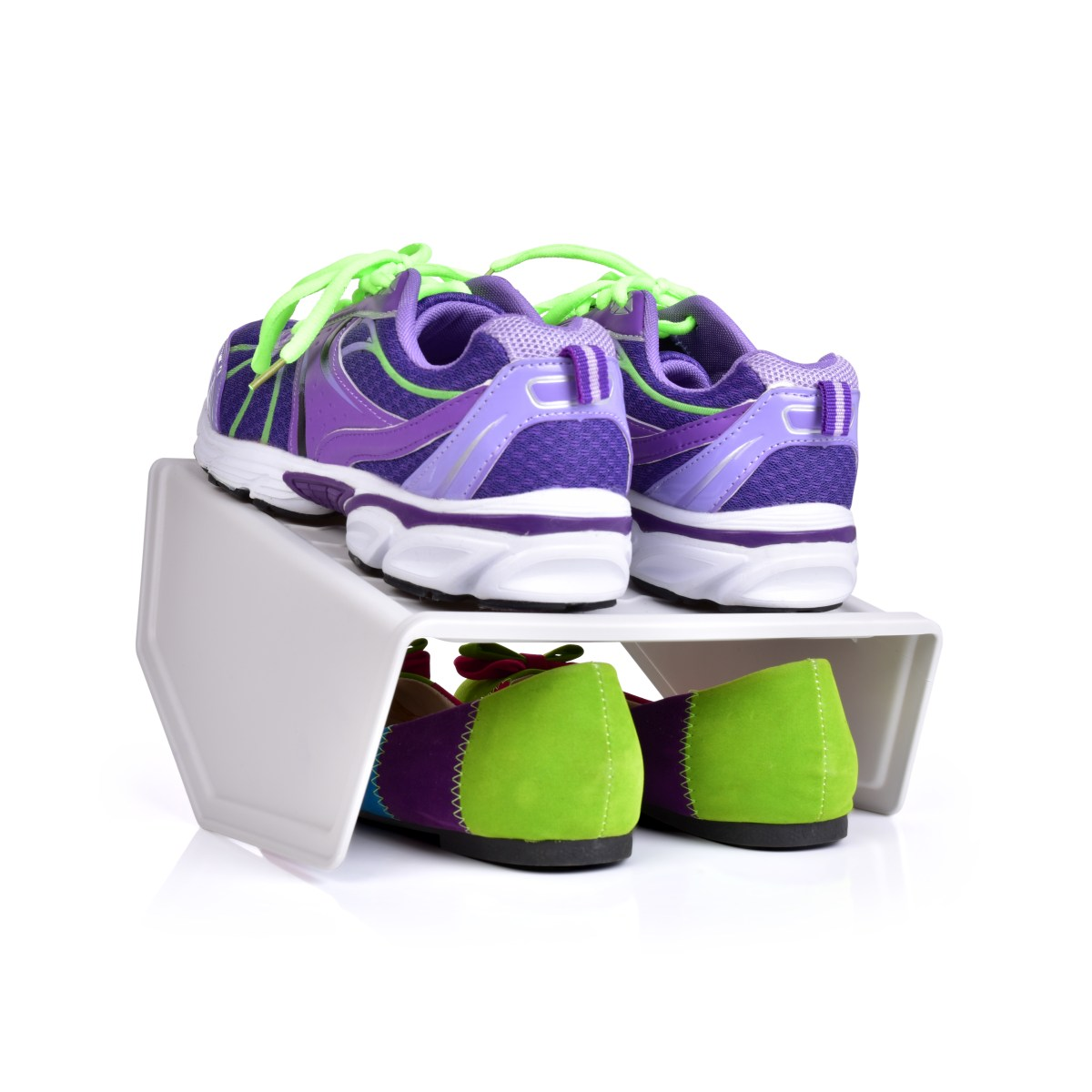 Dvojpárový BOTOŠTOS Stojan na topánky biely