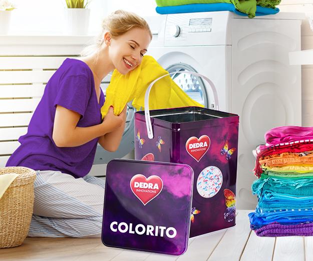 EKO PRÁŠEK na barevné prádlo + dóza ZDARMA, ECORAPID COLORITO