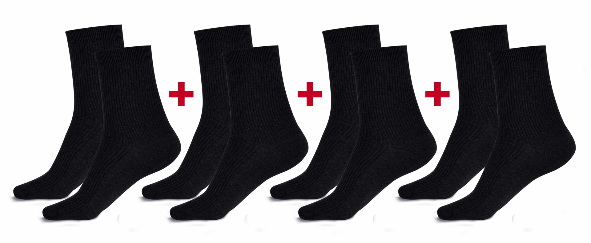Sada 4 párů komfortních zdravotních ponožek   vel.2 (39-42)