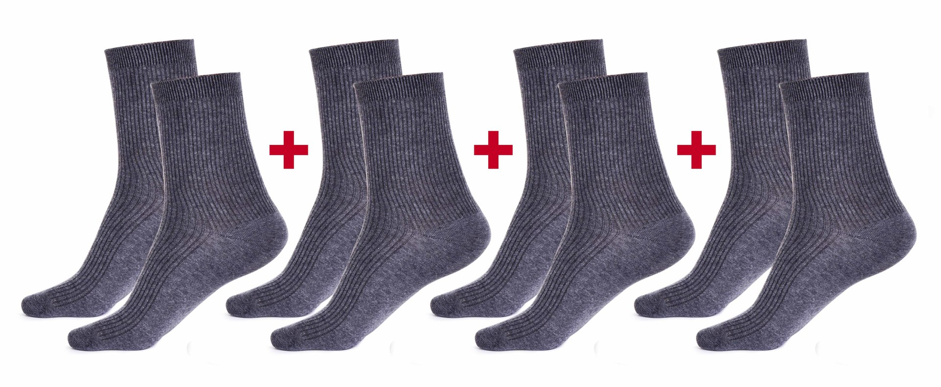Sada 4 párů komfortních zdravotních ponožek