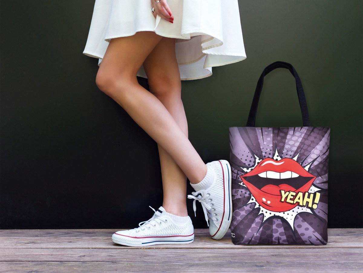 Textilní kabelka/taška FC ELEGANT YEAH!, s uzavíráním na zip