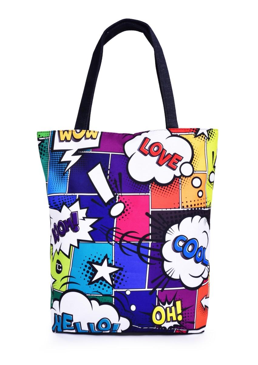 Textilní kabelka/taška FC ELEGANT COMICS, s uzavíráním na zip