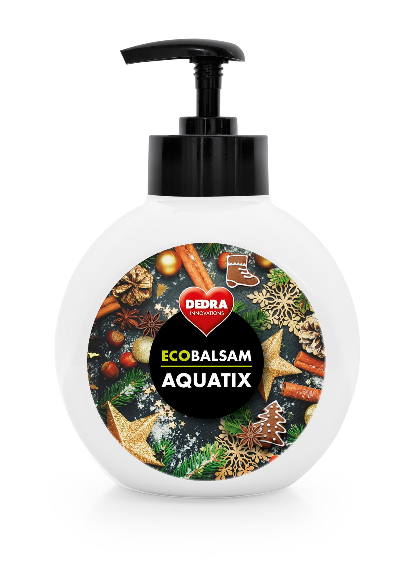 ECOBALSAM AQUATIX christmas secrets, koncentrát na ruční mytí nádobí,s pumpičkou