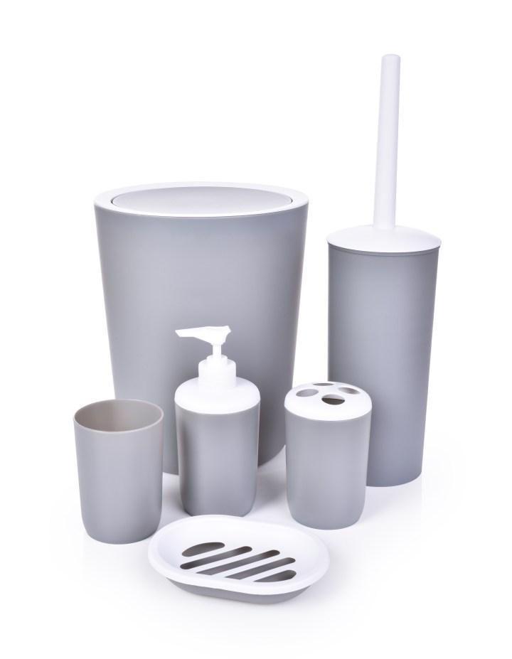Kúpeľňový set 6 dielny - Sivý