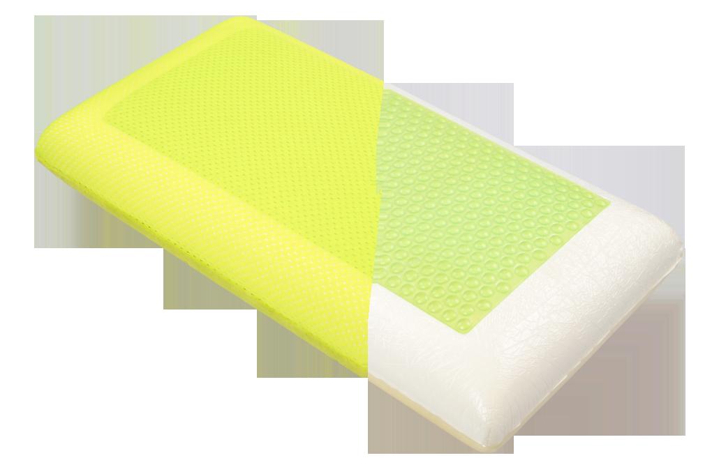 ANATOMIXX polštář s aktivní gelovou chladící zónou, z paměťové pěny