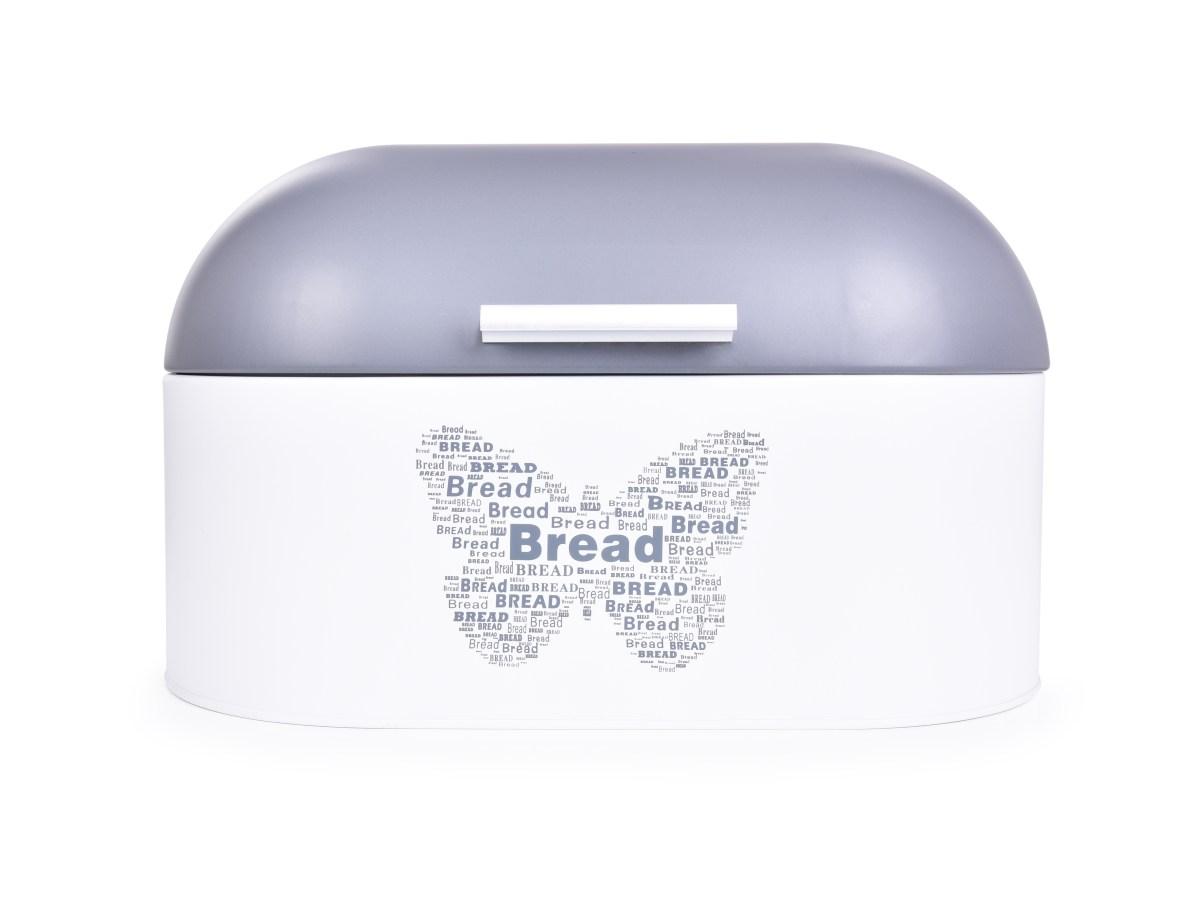 Kovový chlebník MOTÝL s odklápěcím víkem