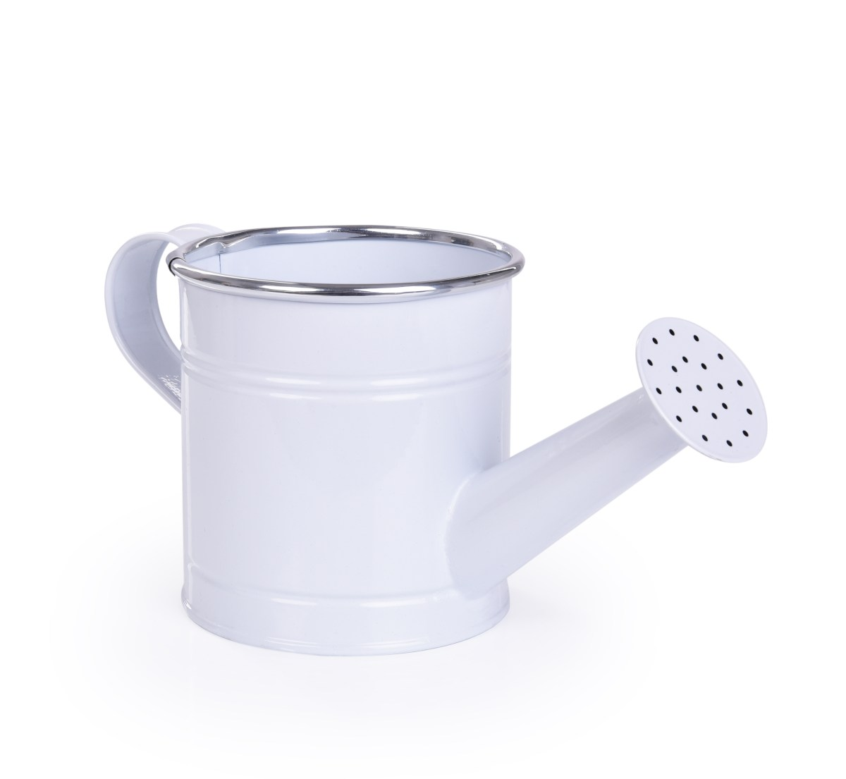 22 cm Dekorativní kovová konvička, bílá