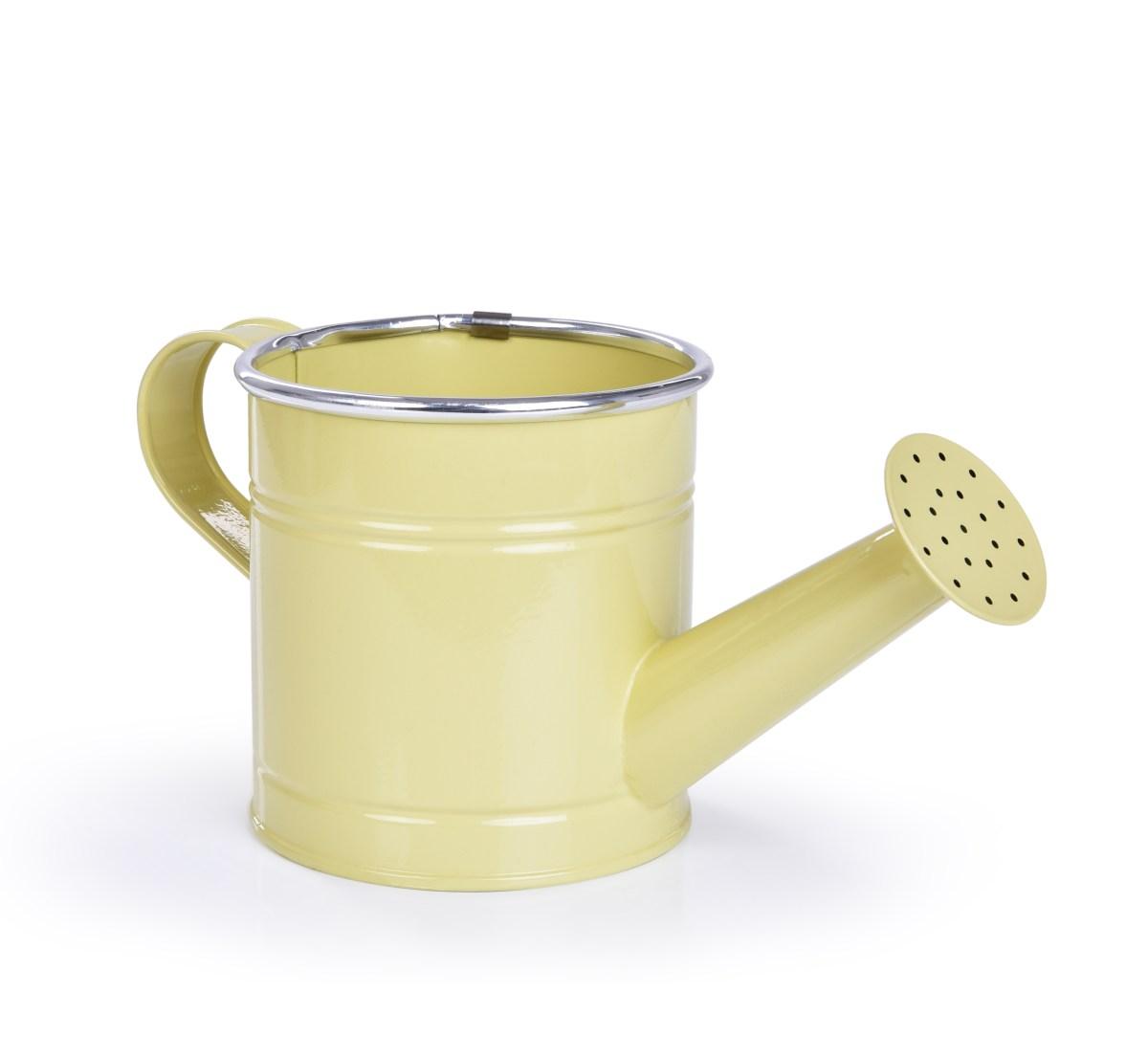 22 cm Dekorativní kovová konvička, vanilková