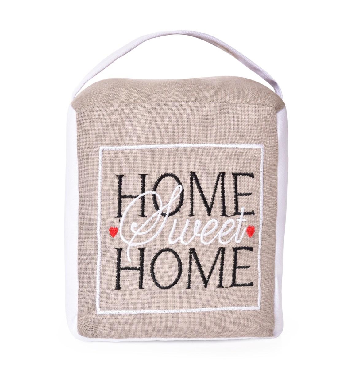 Dveřní textilní zarážka HOME sweet HOME