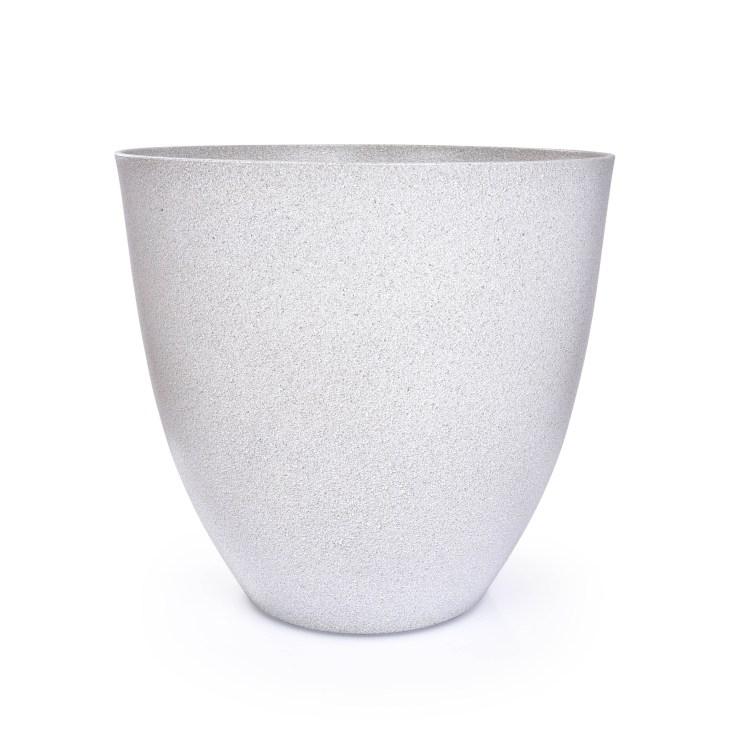 41 cm DU¯A OS£ONKA NA DONICZKÊ w stylu granitu jasnoszary granit