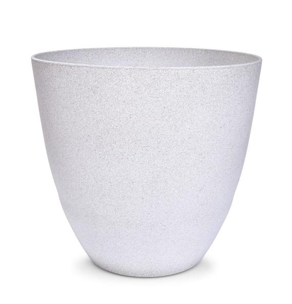 32 cm DU¯A OS£ONKA NA DONICZKÊ w stylu granitu jasnoszary granit