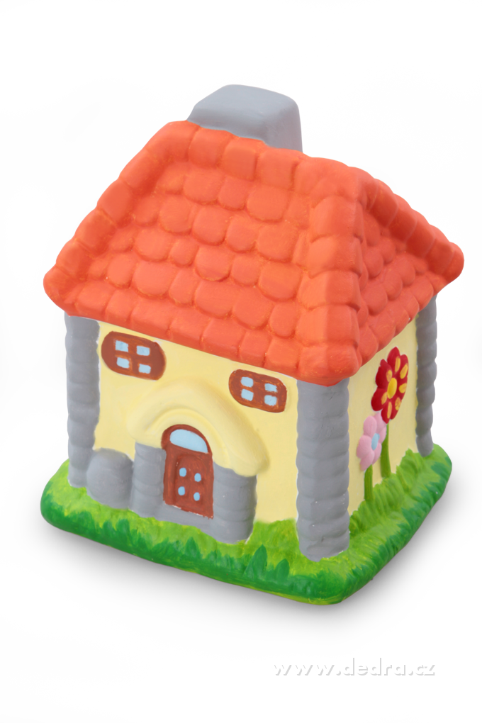 Pokladnička, z keramiky - domeček