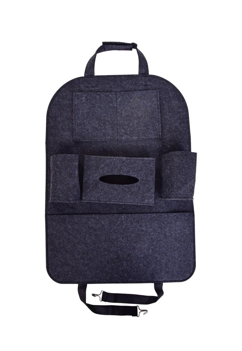 Závesný filcový vreckár / organizér do auta na predné sedadlo