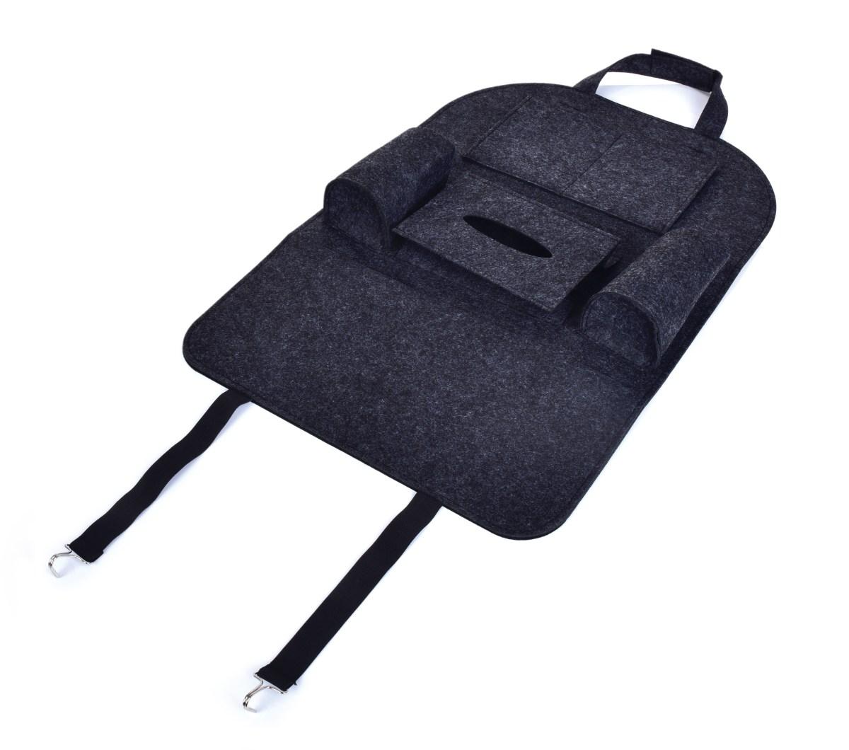 Závěsný filcový kapsář/organizér do auta na přední sedadlo