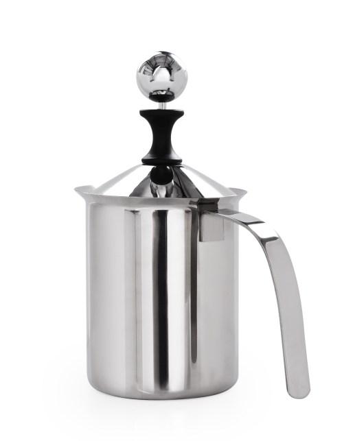 Nerezový ručný šľahač mlieka 500 ml