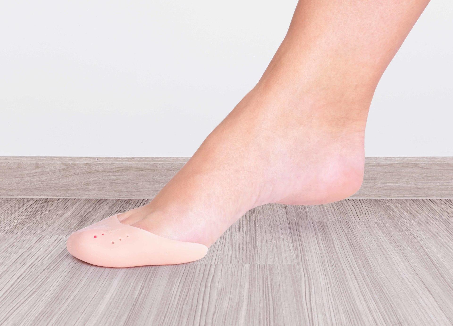 2 ks silikonová ochrana na špičky chodidla