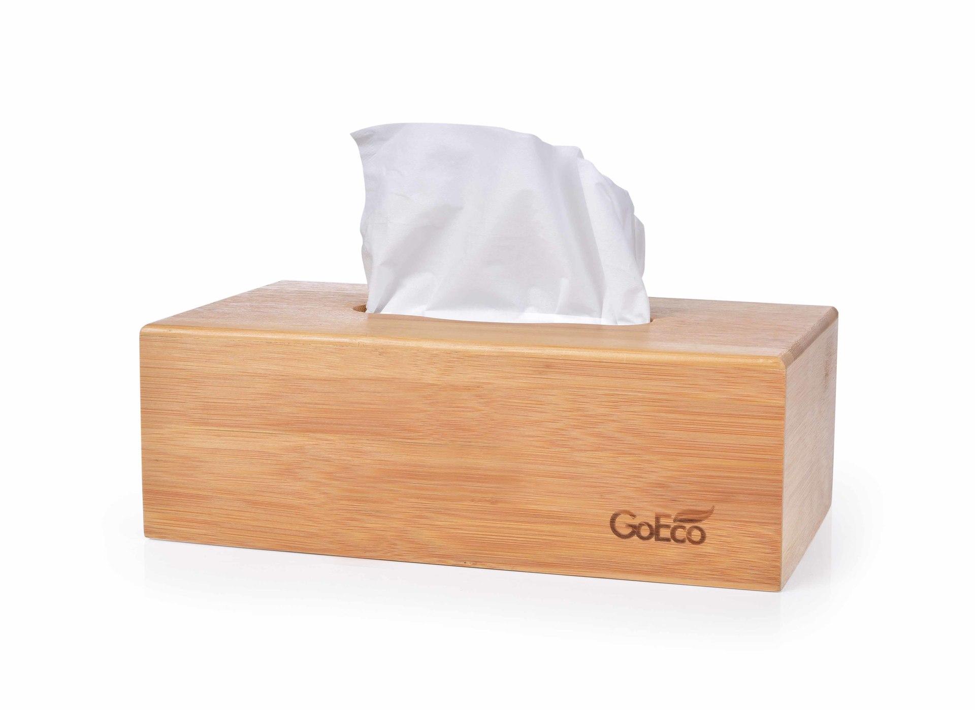 Bambusowa szkatu³ka GoEco(R) na chusteczki higieniczne