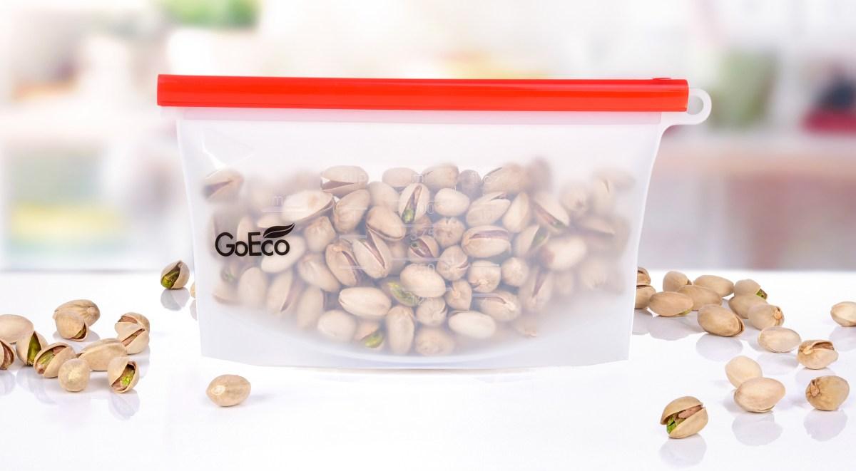 """500 ml """"DOŽIVOTNÍ"""" SILISÁČEK® opakovatelně použitelný silikonový sáček na potraviny GoEco®"""