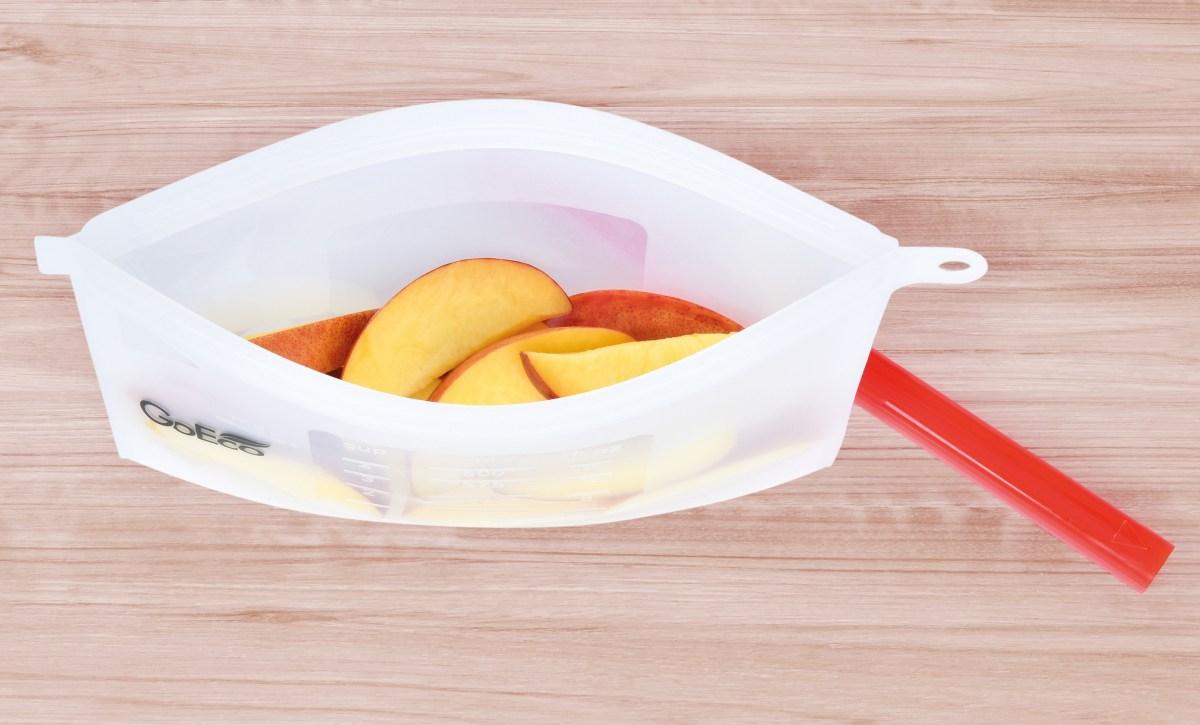 """500 ml """"DOŽIVOTNÍ"""" SILISÁČEK opakovatelně použitelný silikonový sáček na potraviny GoEco®"""