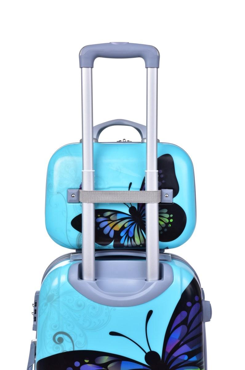 TSA kufr střední, BLUE BUTTERFLY