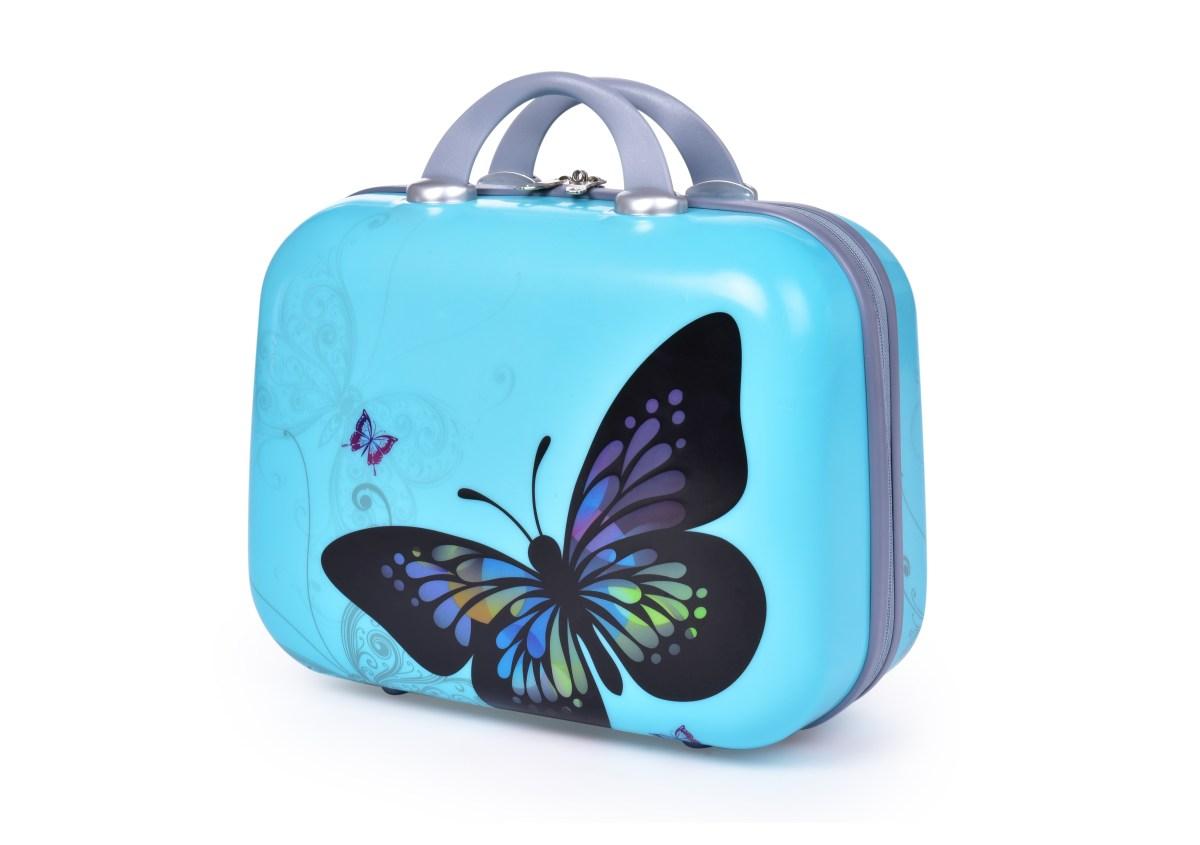 Kufr příruční větší, BLUE BUTTERFLY