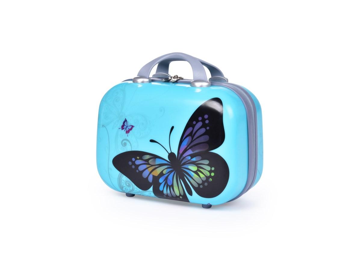 Kufr příruční menší, BLUE BUTTERFLY