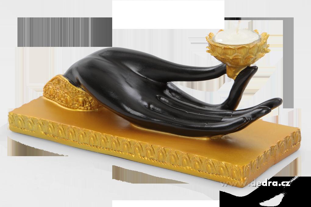 Zenová dlaňsvícen na čaj.svíčku