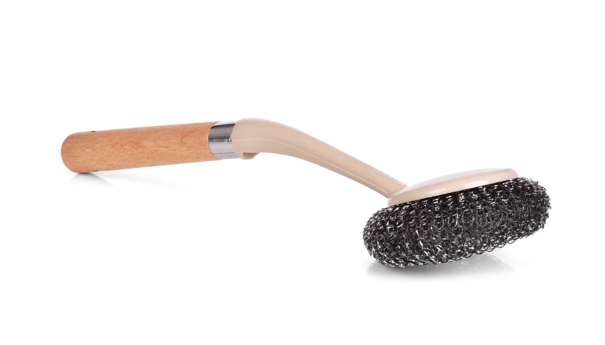Kovová drátěnka na nádobí s praktickou rukojetí NATURAL LOOK