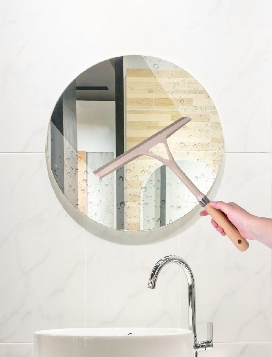 Stěrka na okna, skla a zrcadla s rukojetí z bukového dřeva NATURAL LOOK