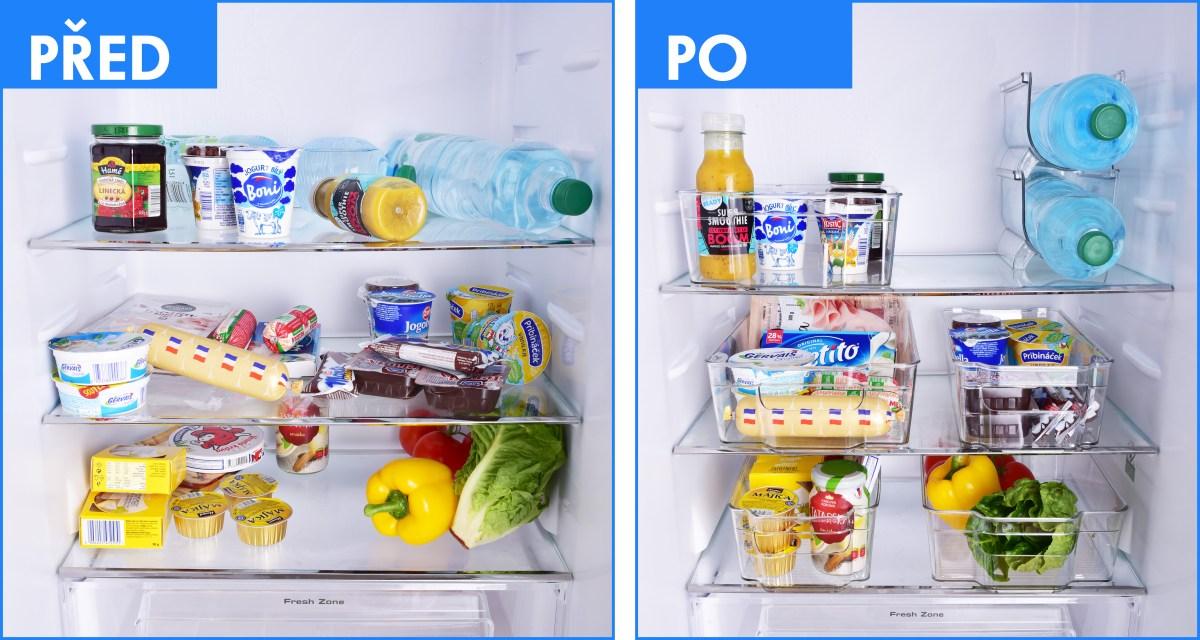Stohovatelný držák na lahve do ledničky CHLADNIČKOPOŘÁDNÍK