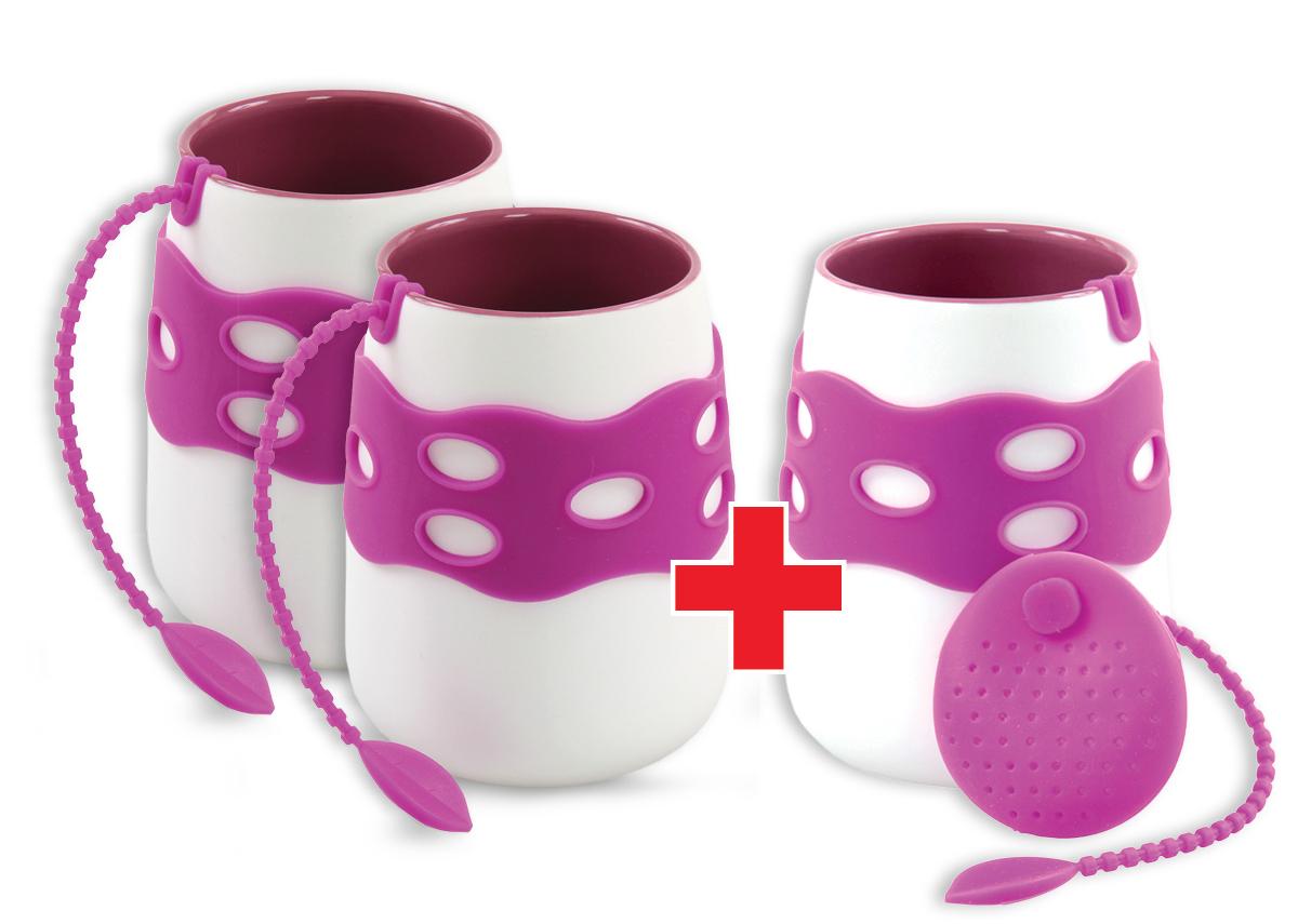 Sada  2+1 ZDARMA hrnek se sítkem na čaj