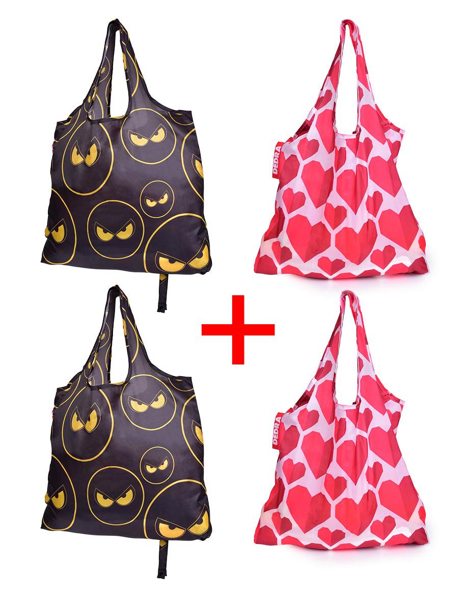 4 ks nákupní skládací taška k opakovanému použití