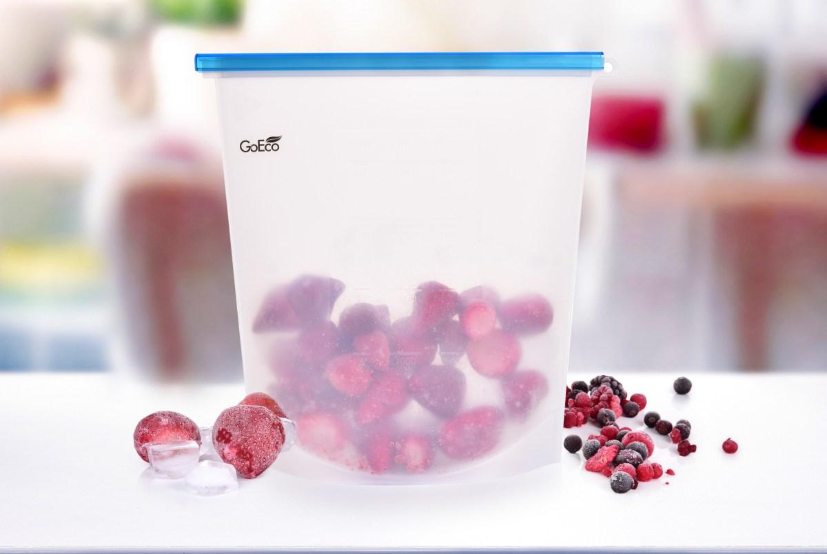 """4000 ml """"DOŽIVOTNÍ"""" SILISÁČEK opakovatelně použitelný silikonový sáček na potraviny GoEco®"""