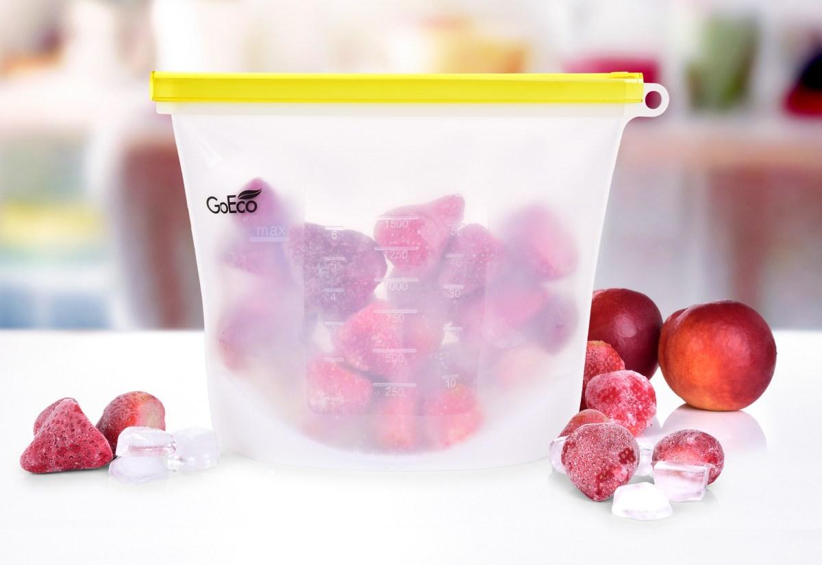 """1500 ml """"DOŽIVOTNÍ"""" SILISÁČEK® opakovatelně použitelný silikonový sáček na potraviny GoEco®"""