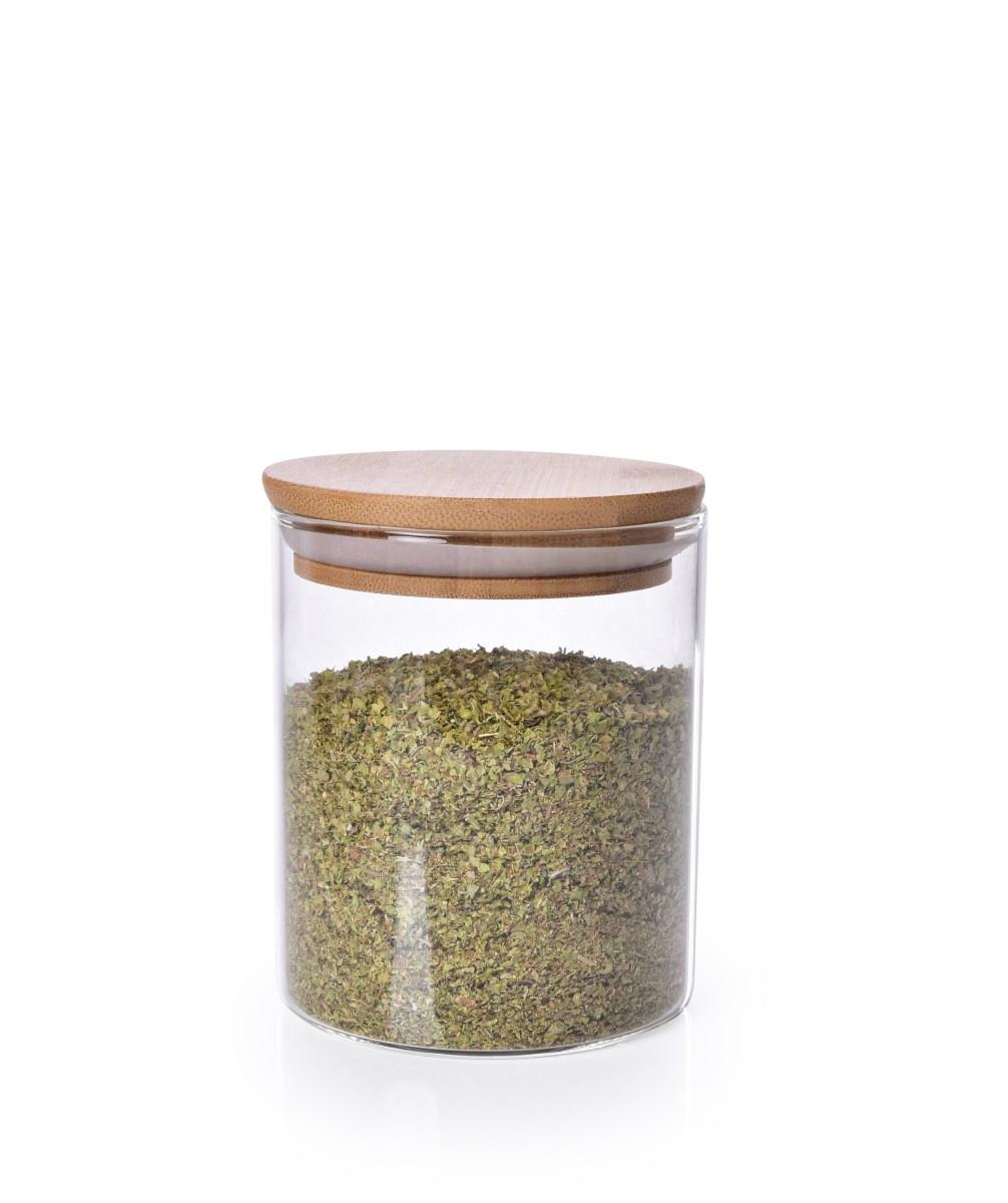 Skleněná dóza s bambusovým víkem BAMBOO & BOROSIL GLASS GoEco®