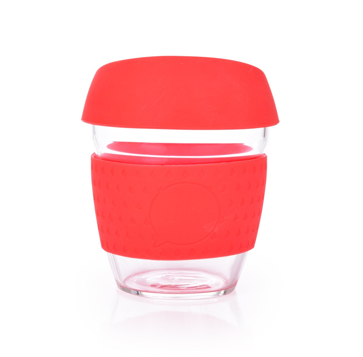 Sklenený hrnček KELIMERO® GoEco® 300 ml červený