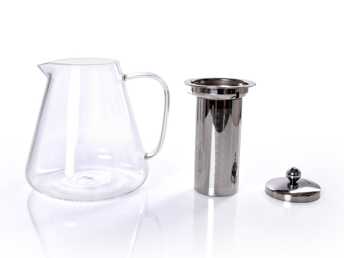 950 ml SKLENĚNÁ KONVICE z borosilikátového skla s kovový sítkem