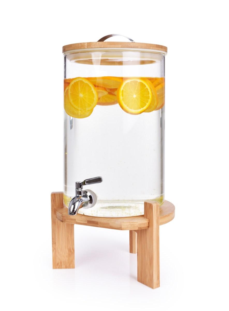 7 L ČEPOCHLADNÍK BAMBOO, dávkovač nápojů ze silnostěnného skla