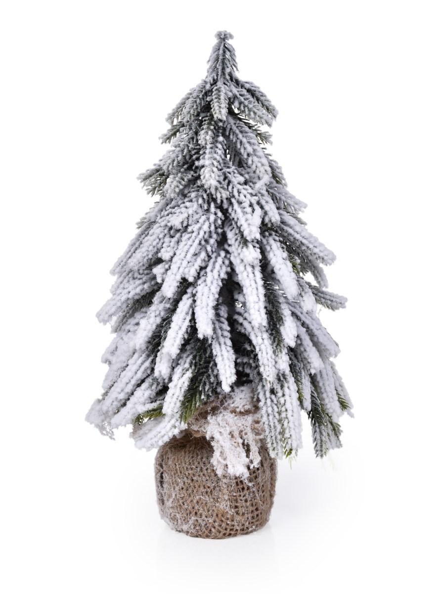 27 cm Zasněžený stromek, stojící dekorace