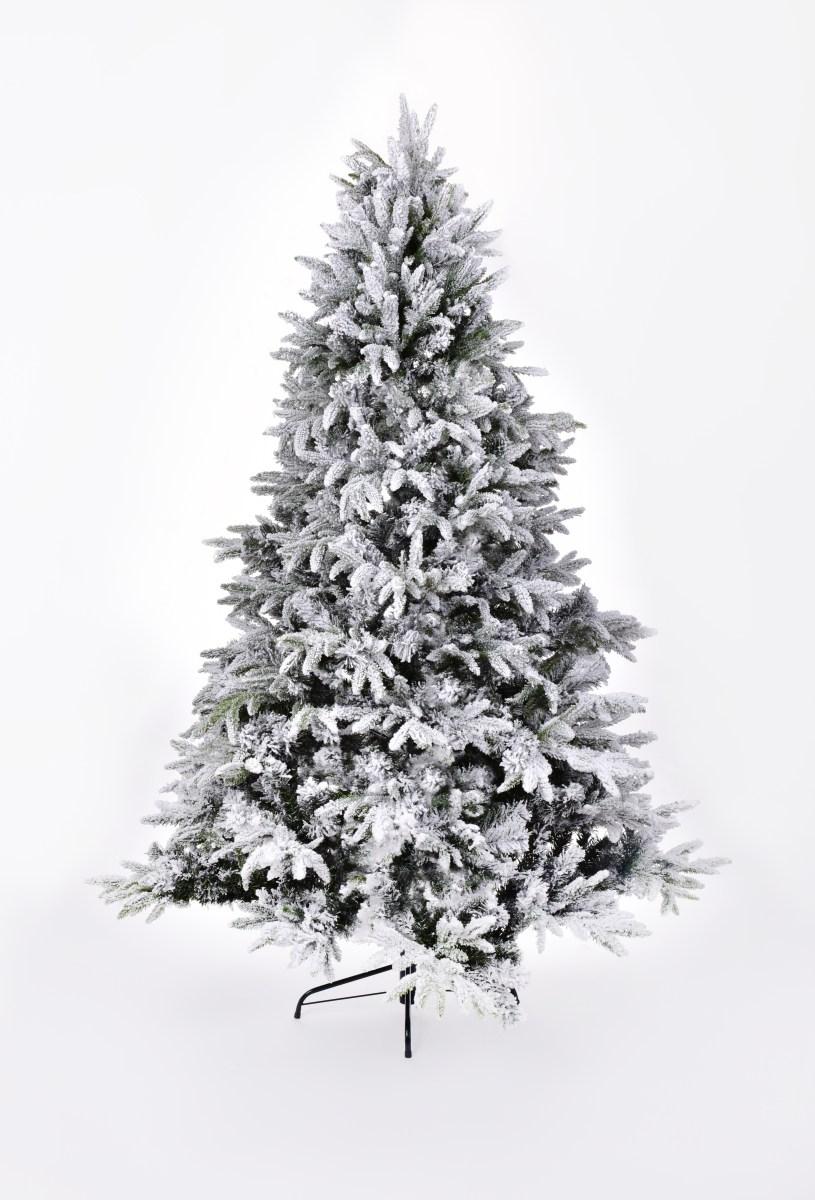 210 cm vánoční stromek se stojanem, ZASNĚŽENÝ SMRK