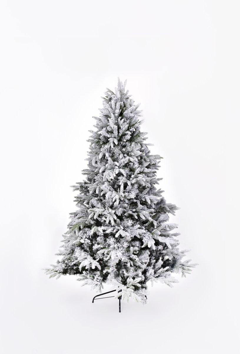 150 cm vánoční stromek se stojanem, ZASNĚŽENÝ SMRK